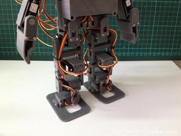 来自台湾可3D打印的开源双足机器人MiniPlan