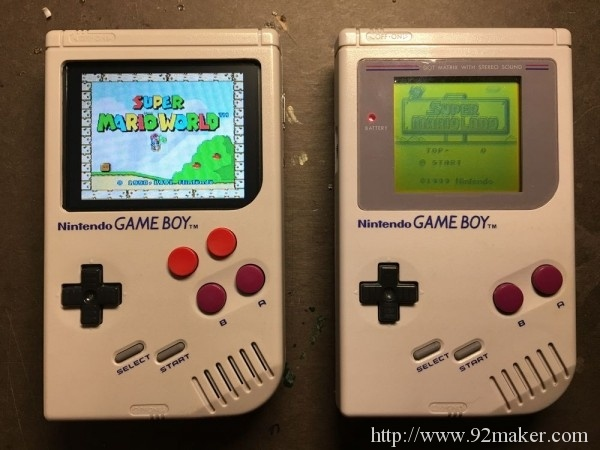 Game Boy Zero显示效果很棒