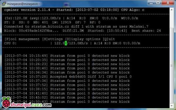 无矿机情况下使用树莓派CPU挖矿